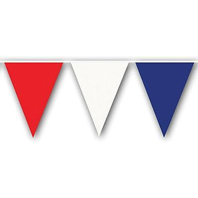 Pennant Flag Streamers  Red White & Blue 105' (48 12