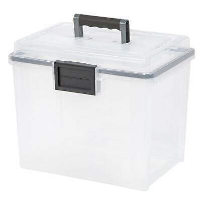 IRIS Letter Size Portable WEATHERTIGHT File Box, Clear