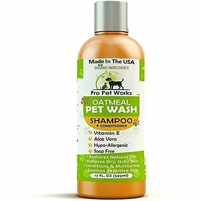(Pro Conditioners Pet Works Natural Oatmeal Dog Shampoo + For Dogs And Soap Free)