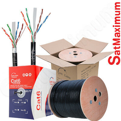 Cat6 Solid Cable (OUTDOOR Cat6 Cable 500ft 1000ft Ethernet 23AWG UTP FTP Solid Bulk Direct Burial)