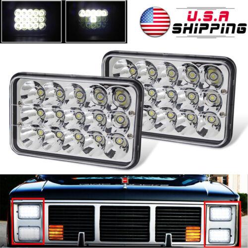 Pack2 4x6 Headlights Super Bright LED  Headlamps Sealed Beam Bulbs Set