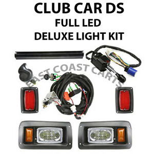 club car ds golf cart street legal full led deluxe light kit free shipping ebay. Black Bedroom Furniture Sets. Home Design Ideas