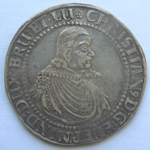 GERMAN STATES BRUNSWICK-LUNEBURG-CELLE KING CHRISTIAN 1618 SILVER THALER. KM-9.4