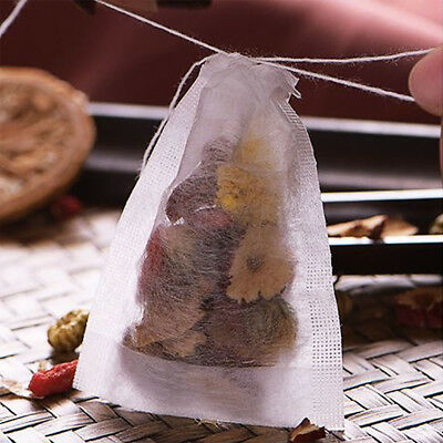 Tea Filter Bags Disposable Drawstring Paper Bag for Loose Le