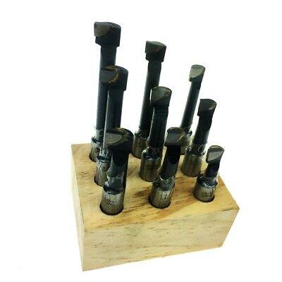 Hfsr 12 Shank 9 Piece Carbide Tip Boring Bar Set