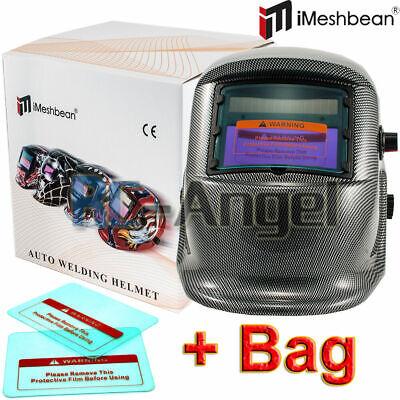 Pro Solar Auto Darkening Welding Helmet Arc Tig Mig Mask Grinding Welder Wbag