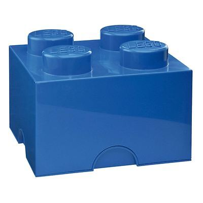 LEGO LARGE STORAGE BOX NEW FURNITURE - 4 BLUE BRICK