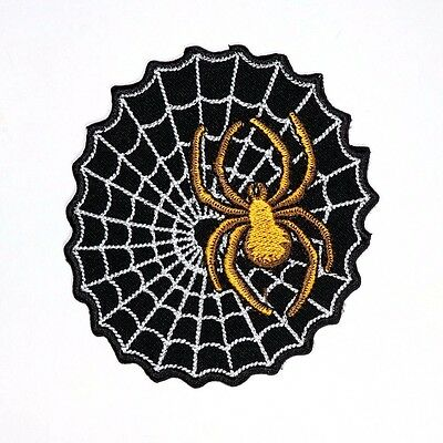 Spider Webs poison insect Animal Cartoon Halloween Clothing Jeans Iron on Patch (Cartoon Halloween Spider)