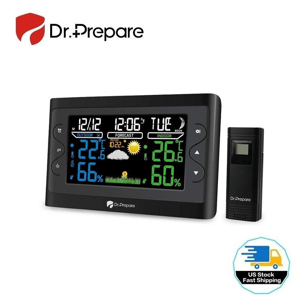 Dr. Prepare Digital Weather Station Wireless Indoor Outdoor