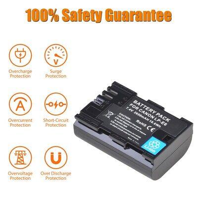 LP-E6 LP-E6N Camera Battery for Canon EOS R5 EOS 90D EOS 60D...