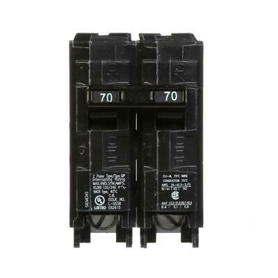 Siemens Circuit Breaker 70 Amp Double-pole Type Qp Thermal-magnetic