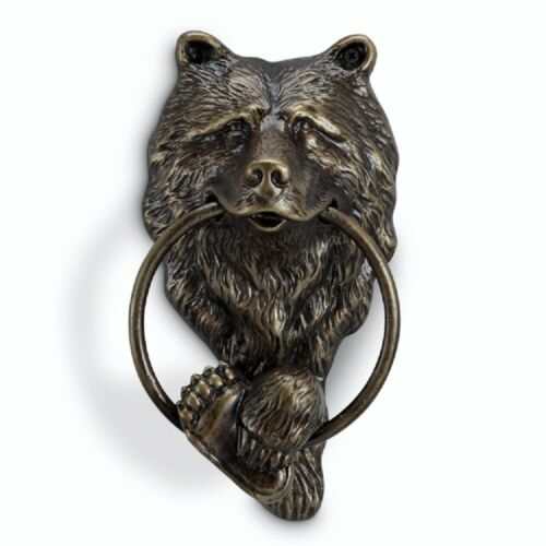 Bear Head Doorknocker Grizzly Paw Rustic Cabin Lodge Door Knocker SPI Home 34755