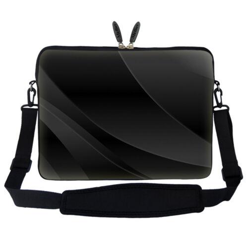 """15.6"""" Laptop Computer Sleeve Case Bag w Hidden Handle & Shoulder Strap 1602"""