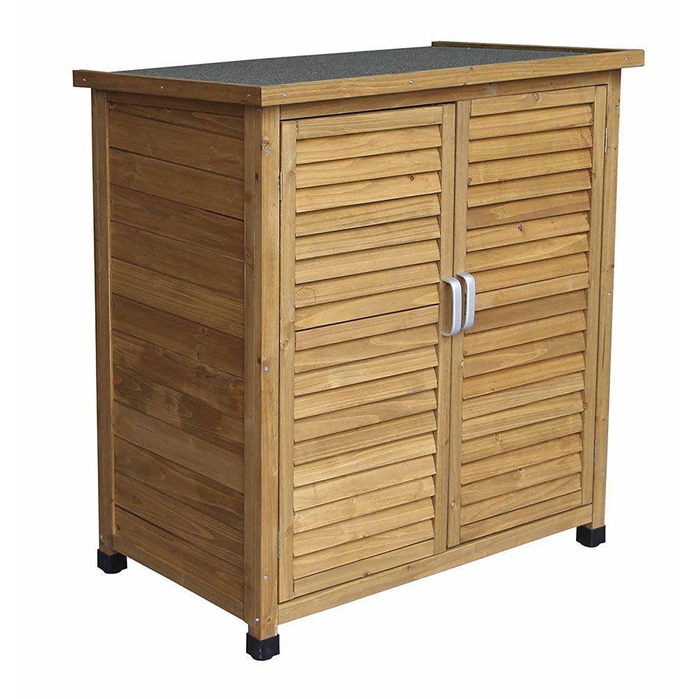 Outdoor Kitchen Units Uk: Airwave Wooden Double Door Box Outdoor Garden Storage