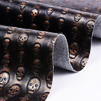 A4 Skull PU Leather Fabric Quilting Sewing Craft Patchwork DIY Clothing Decor