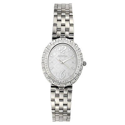 Croton Women's CN207507SSMP Quartz Diamond Accents Silver-Tone 36.5mm Watch