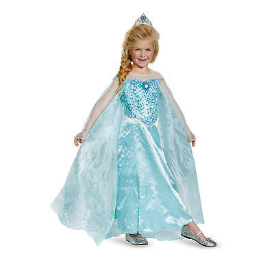 Disguise Frozen Elsa Prestige Disney Child - Disguise Elsa Costume