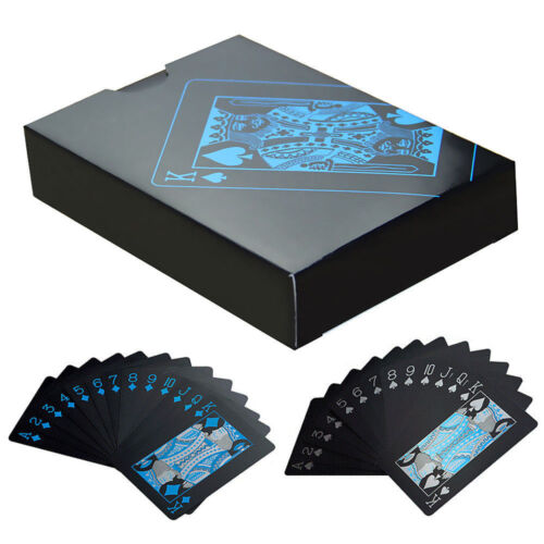 Waterproof Black Playing Cards Collection Plastic Magic Deck