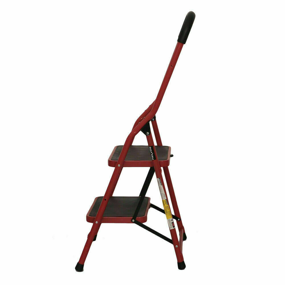 2 Step Ladder Protable Folding Non Slip Safety Tread Heavy D