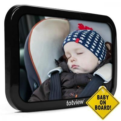 Baby Car Mirror - For Rear Facing Seats - Large, Secure Fit - Easily View...