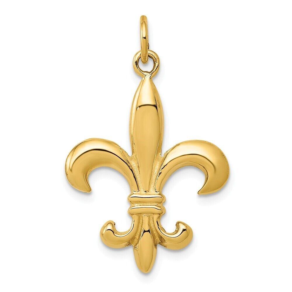 14k Gold White Gold Latin Cross Pendant 0.98 in x 0.47 in