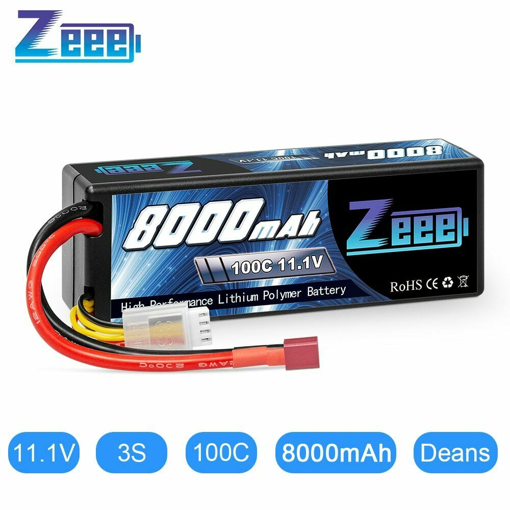 Zeee Lipo Battery 11.1V 8000mAh 100C 3S Lipo Battery with De
