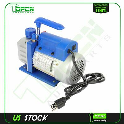 1 Stage 3 Cfm 14 Hp Blue Rotary Vane Deep Vacuum Pump Hvac Ac Air Tool Kit
