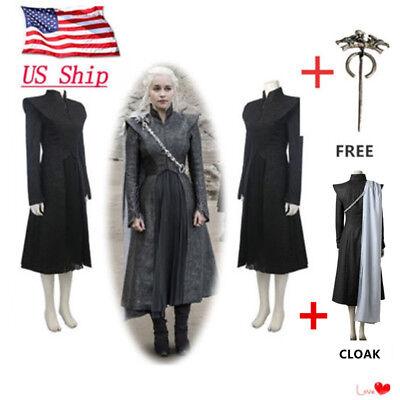 Game Of Thrones Season 7 Daenerys Targaryen Full Set Halloween Cosplay Costume