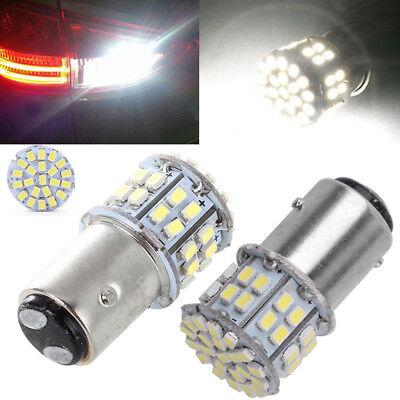 2PCS Best 6000K White 1157 High Power 50SMD Tail Brake LED Lights Bulb
