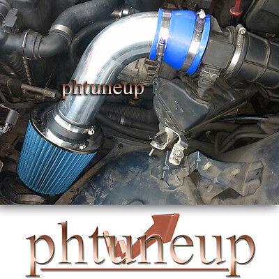 BLUE 2001 2002 2003 BMW 525i 2.5 2.5L BASE 4-DOOR AIR INTAKE KIT SYSTEM
