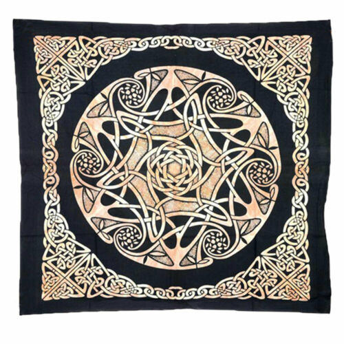"""NEW Celtic Star Altar Cloth 40"""" Printed Cotton Table Cover or Wall Hanging"""