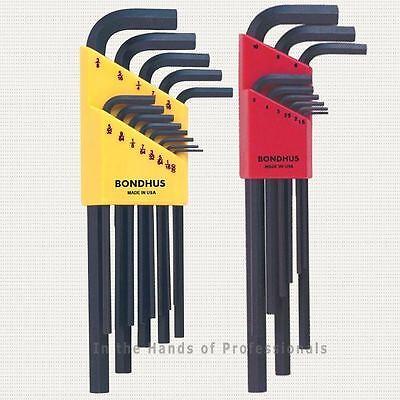 Bondhus 22199 Allen Style/Hex L-Wrench Combo 22-PC Set =12137 SAE / 12199 (Bondhus Metric Allen Wrench)