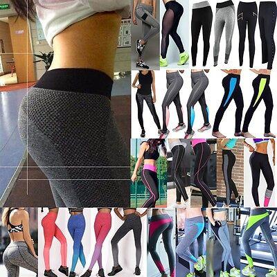Leggings - Women Sport Gym Yoga Workout High Waist Running Pants Fitness Elastic Legging SS
