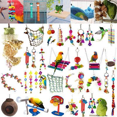 Pets Bird Toy Parrot Hanging Swing Rope Cage Toys Parakeet Cockatiel Budgie (Swing Toy)