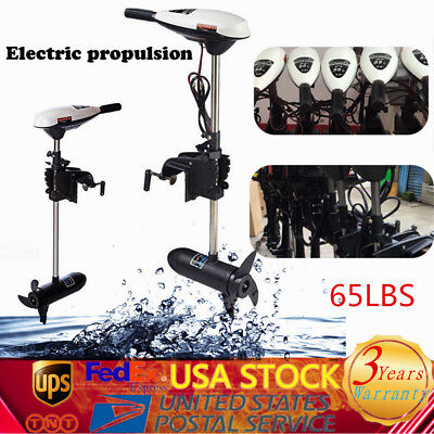 65LBS Electric Outboard Motor Inflatable 12V Fishing Boat Engine Brush motor US