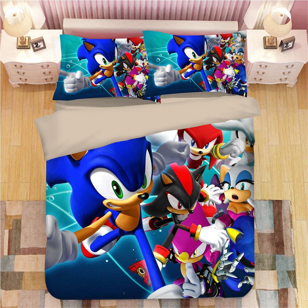 new pattern anime sonic bedding set quilt
