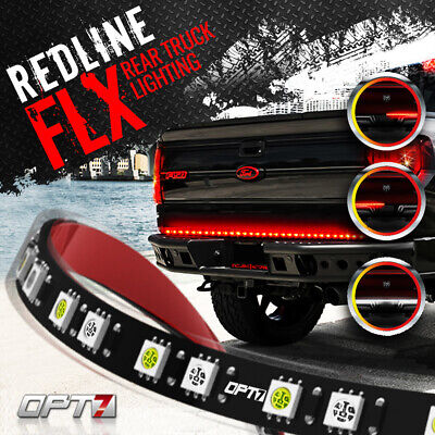 "48"" Redline Flexible LED Tailgate Light Bar Running Brake Reverse Pick up Truck"