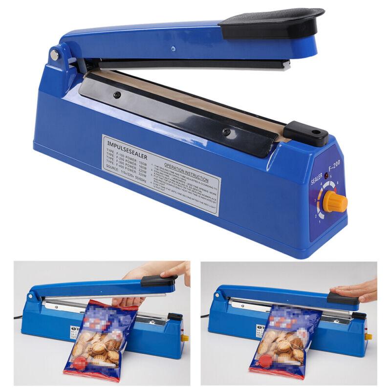 8/12 inch Plastic Impulse Bag Sealer Poly Bag Sealing Machine Heat Seal Closer