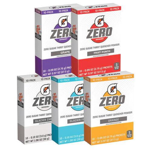 GATORADE ZERO Single Packets SUGAR FREE (10 servings x 1 box) FREE SHIPPING