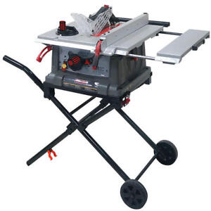 Craftsman table saw motor ebay craftsman 10 portable table saw space saving fold roll stand 15 amp motor pro greentooth Images