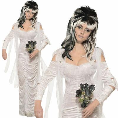 Adultos Embrujado Novia Boda Bola Vestido Graduación Halloween Disfraz Mujer