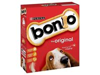 4 x 1.2kg Boxes of Bonio Original Dog Biscuits/Treats