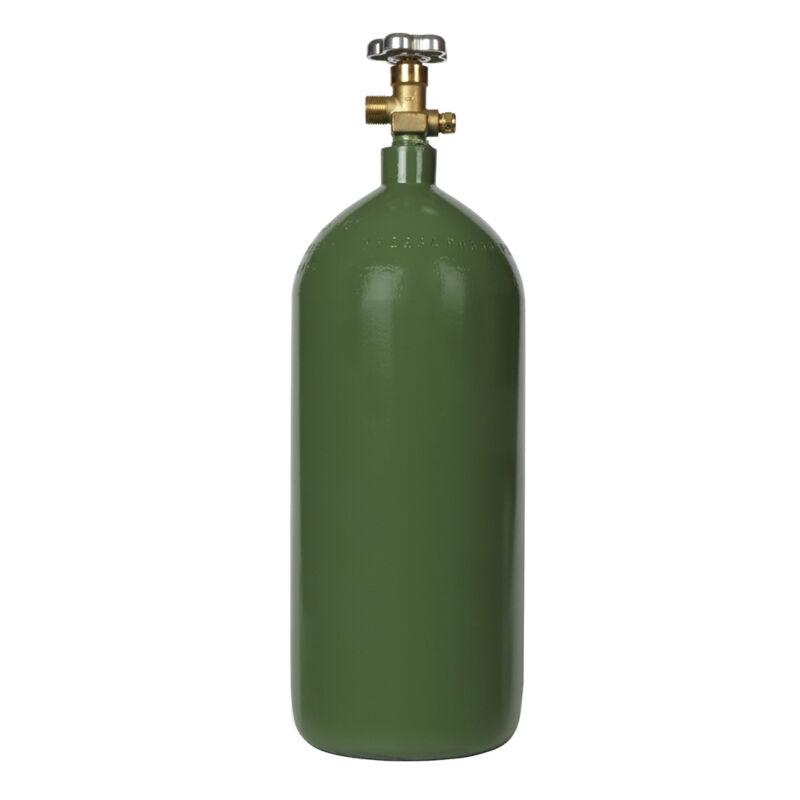 NEW 40 cu ft Steel Oxygen Cylinder CGA540 Valve Installed - OxyAcetylene Welding