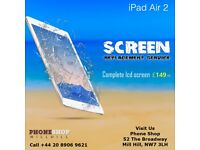 iPad Air 2, iPad Mini 2, Mini, iPad 2,3,4 Top Glass Digitiser Repair Replacement Service Mill Hill