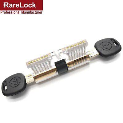 Rarelock Training Lock Practice Door Knob Plastic Clear