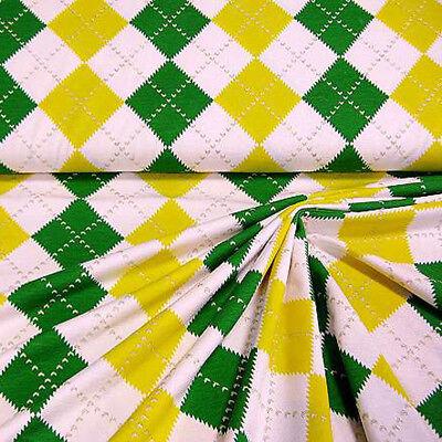 00 m mit Rauten und Glitzereffekt in grün, gelb, weiß, gold (Weiß Und Gold Stoff)