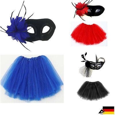 Venezianisch Feder Augenmasken Tütü Fasching Kostüm Halloween Maskenball JGA
