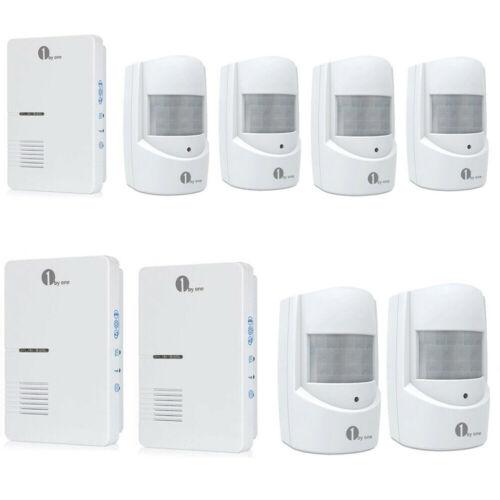 1byone 1000ft Long Range Wireless Driveway Alarm Alert Syste