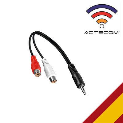 ACTECOM® CABLE CONVERSOR DE AUDIO JACK MACHO 3.5MM A 2 RCA HEMBRA...