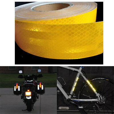 Conspicuity Reflective Tape Body Stickers Safety Night Warning Sign 5Cmx10m